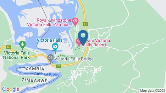 Avani Victoria Falls Resort Map