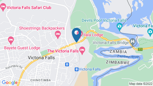 The N1 Hotel & Campsite Victoria Falls Map