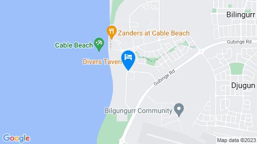 RAC Cable Beach Holiday Park Map