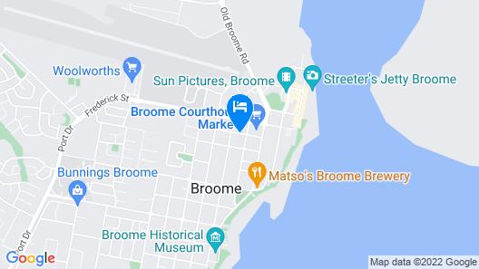 Broometown Boutique Accommodation Map