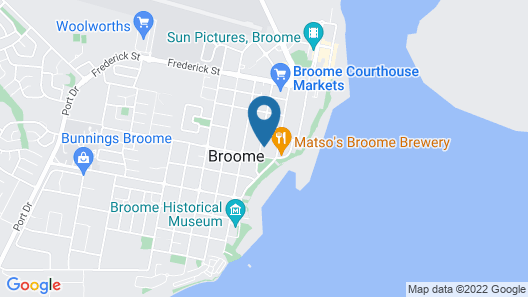 The Continental Hotel Broome Map