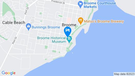 Oaks Broome Hotel Map