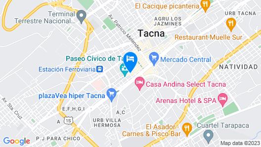 Hotel Plaza Tacna Sauna & Spa Map