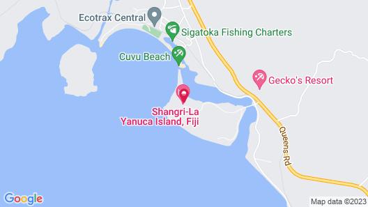 Shangri-La Yanuca Island, Fiji Map
