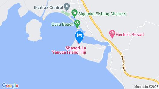 Shangri-La's Fijian Resort and Spa, Yanuca Island, Fiji Map