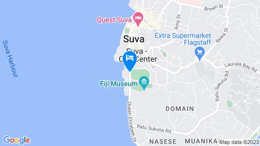 Grand Pacific Hotel Fiji Map