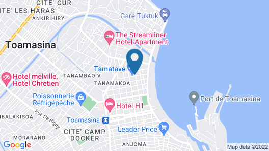 Apartment With 2 Bedrooms in Toamasina, With Terrace - 100 m From the Beach Map