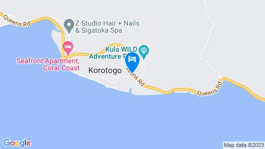 Outrigger Fiji Beach Resort Map