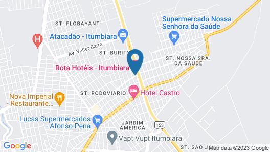 Rota Hotéis Itumbiara Map