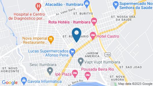Hotel Gralha Azul Map