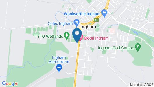 Tropixx Motel & Restaurant Map