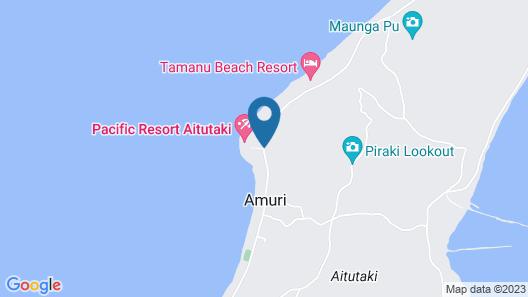 Pacific Resort Aitutaki Map