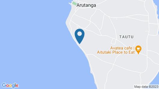 The Reef Motel Aitutaki Map