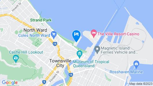 Mariners North Holiday Apartments Map