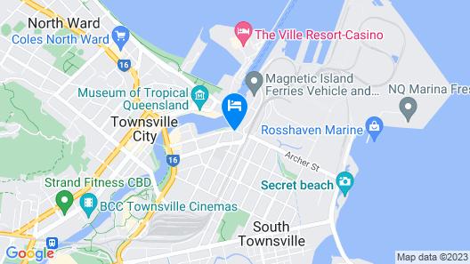 Oaks Townsville Metropole Hotel Map