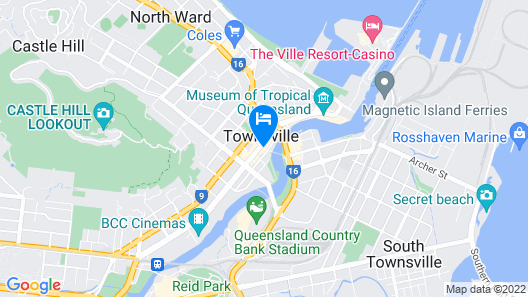 Hotel Grand Chancellor Townsville Map