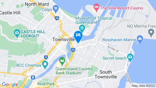 Rydges Southbank Townsville Map
