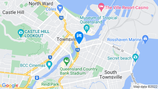 Grand Hotel and Apartments Townsville Map
