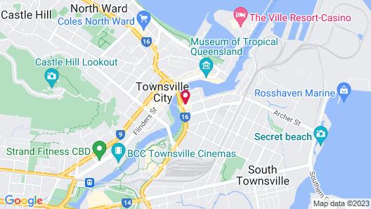 Oaks Townsville Gateway Suites Map