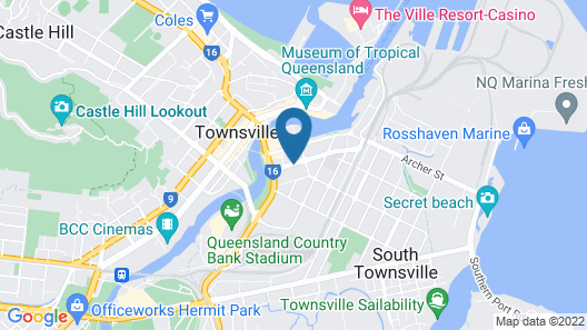 Townsville Southbank Apartments Map