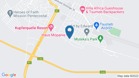 Haus Mopanie Map