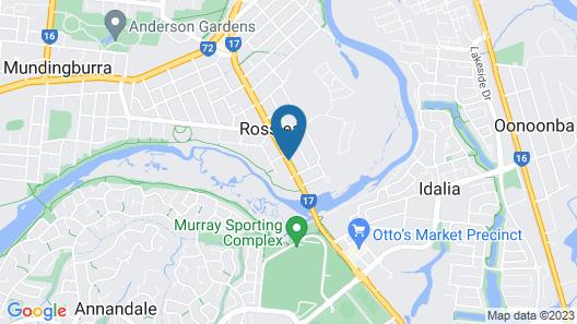 Cascade Motel In Townsville Map