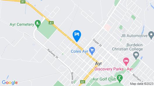 Ayr Max Motel Map