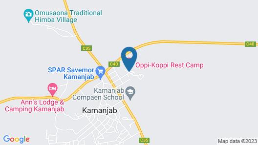 Oppi-Koppi Restcamp Map