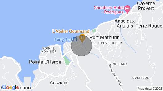 Lacaze TiMay, votre appart hotel à Port Mathurin Map