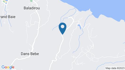Villa Zourit Rodrigues Bungalow Map