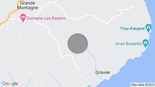 Etablissement Chez Diana et Gaëtan se trouve a l'est de l'ile  vue sur la plage Map