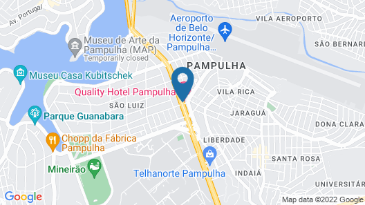 Quality Hotel Pampulha Map
