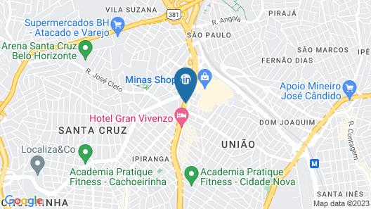 Ouro Minas Palace Hotel Map
