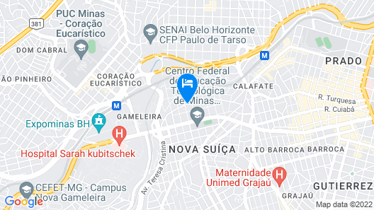 Ímpar Suítes Expominas Map