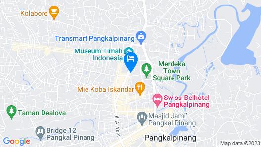 RedDoorz near Transmart Pangkal Pinang Map