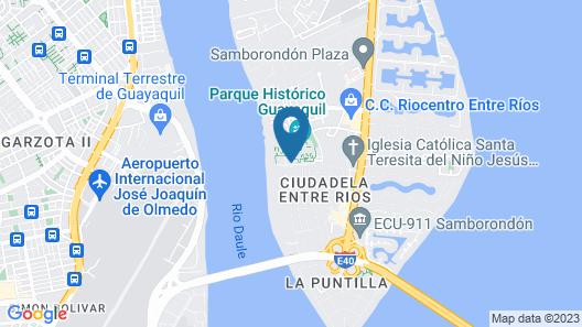 Hotel del Parque Map