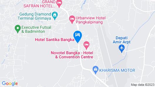 Hotel Santika Bangka Map