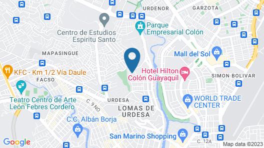 Suites de Lujo en Urdesa Norte Map