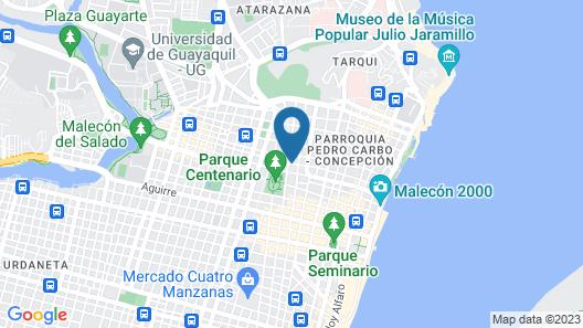 Guayaquil Hostel Suites Madrid Map