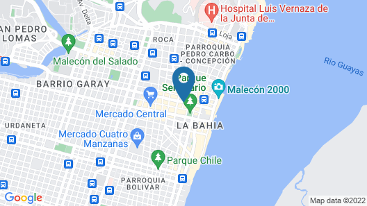 Departamento de la Iguana Map