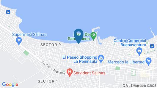 Playa Canela Hotel Boutique Map