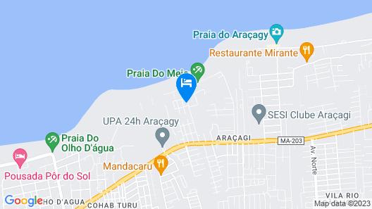 Pousada Vila do Mar Map
