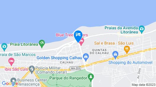 Blue Tree Towers São Luís Hotel Map