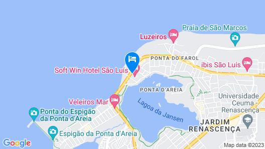 Flat Bellagio Ferreira Hospedagens Map