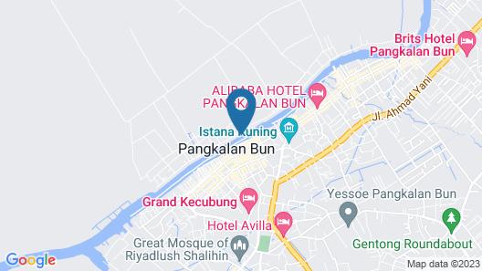 Arut Riverside Orangutan Guest house Map