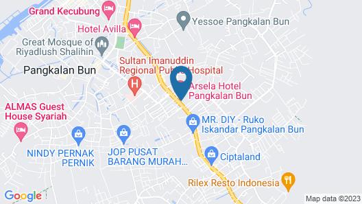 Arsela Hotel Pangkalan Bun Map