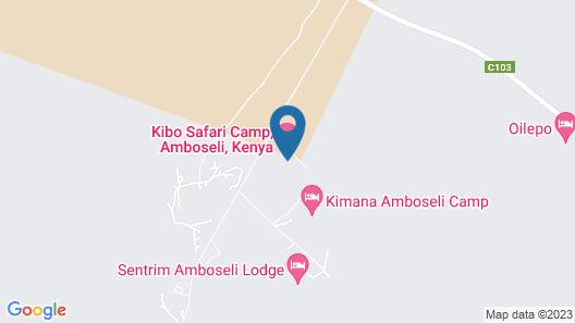 Kibo Safari Camp Map