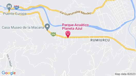 Parque Acuático Planeta Azul Map