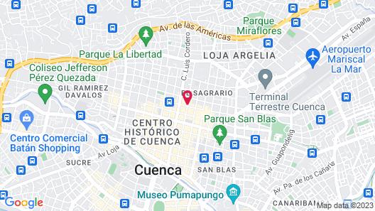 Hotel Boutique Los Balcones Map