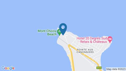 Canonnier Beachcomber Golf Resort & Spa Map